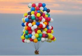 Сколько летают шарики надутые гелием и обработанные Hi-Float?