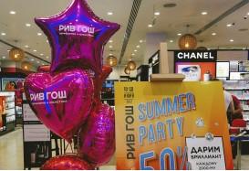 Украшение шарами магазина или как шары чуть не остались на улице!