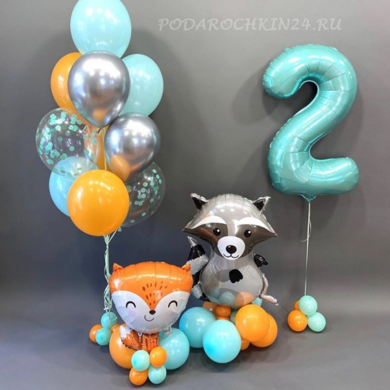 Набор воздушных шаров на день рождения девочки или мальчика