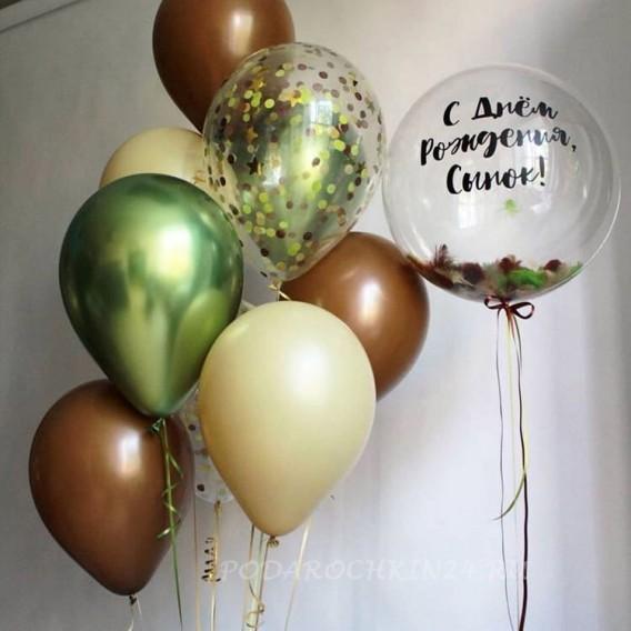 Фонтан из воздушных шаров на день рождения