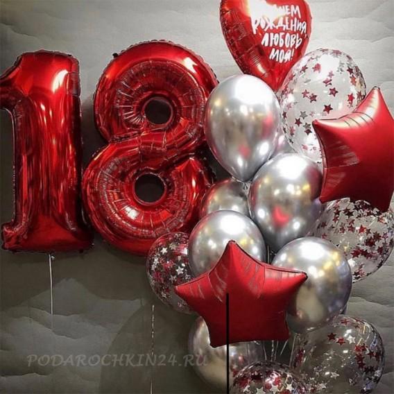 Фонтан воздушных гелиевых шаров на день рождения