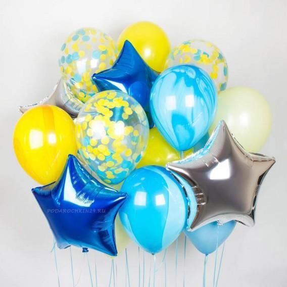 "Набор шаров ""Парад красок: сине-желтый"""