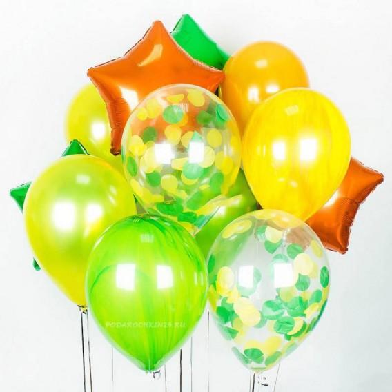 """Набор воздушных шаров """"Парад красок: желтый в зелени"""""""