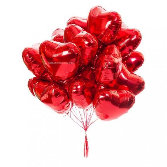 """Фольгированный шар """"Сердце. Красный."""""""
