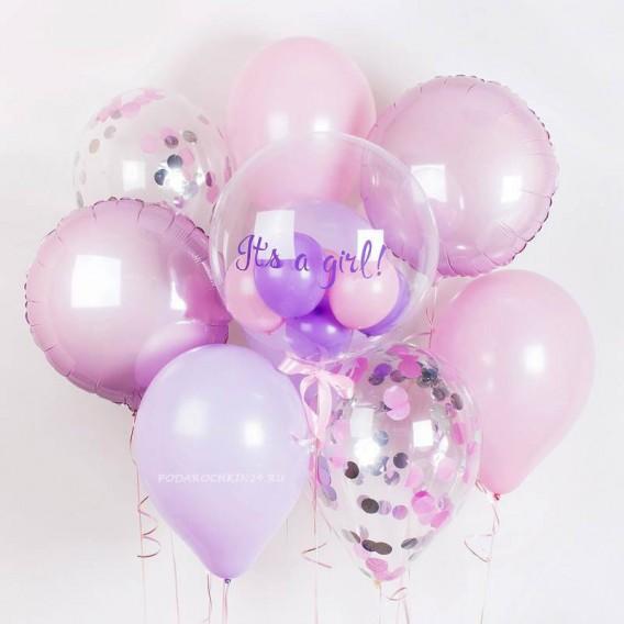 Набор воздушных шаров на выписку из роддома